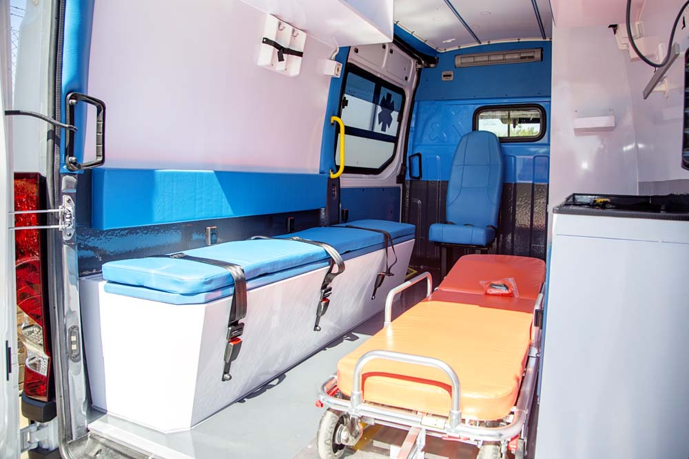 Interior ambulance conversion 2