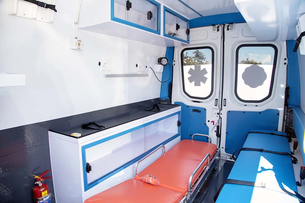 Interior ambulance conversion