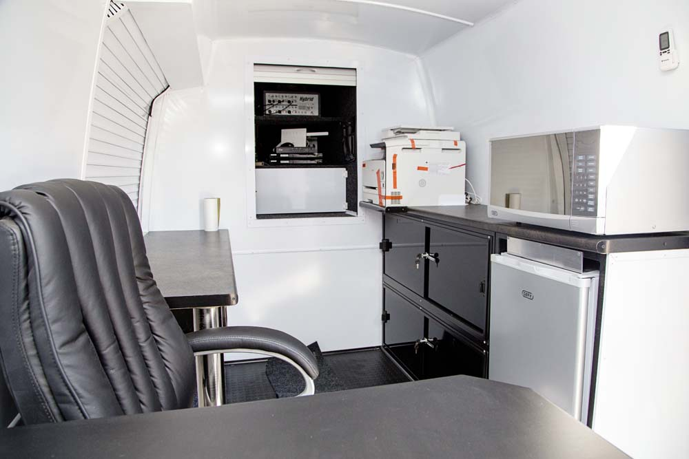 Mobile office interior